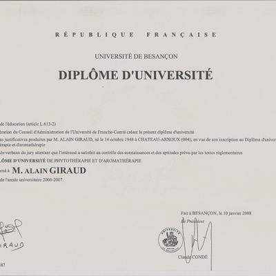DU phyto - aromathérapie (fac Besançon 2008)